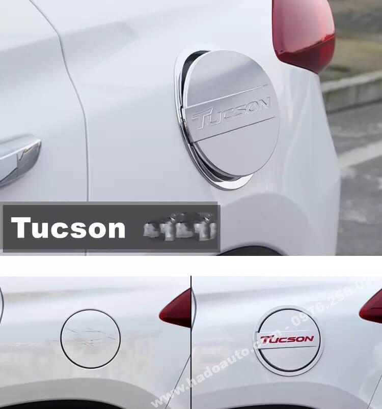Ốp nắp bình xăng Tucson mạ crom cao cấp